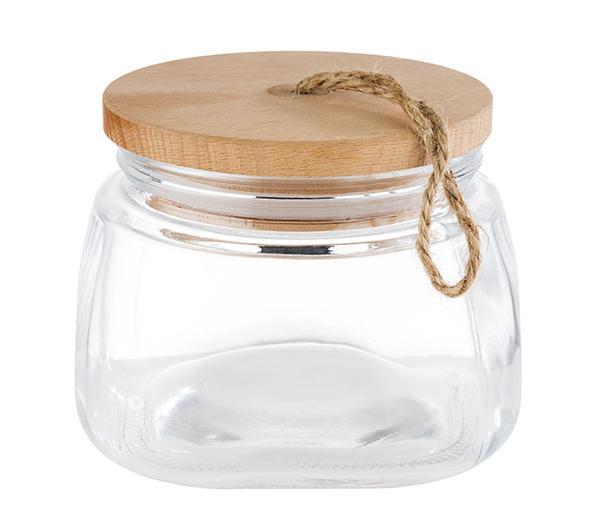 Klaaspurk puidust kaanega 1l