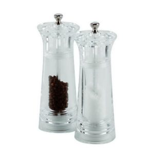 Acrylic Salt/Pepper Mill Ceramic Grinder 15,5cm, Porcelite