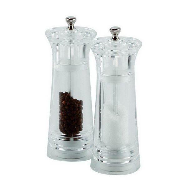Acrylic Salt/Pepper Mill Ceramic Grinder 15,5cm, Porcelite
